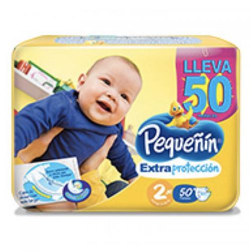 PAÑAL ETAPA 2 EXTRA PROTECCIÓN PEQUEÑÍN x 50