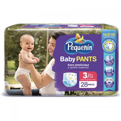 PAÑAL BABY PANTS ETAPA 3 PEQUEÑÍN x28