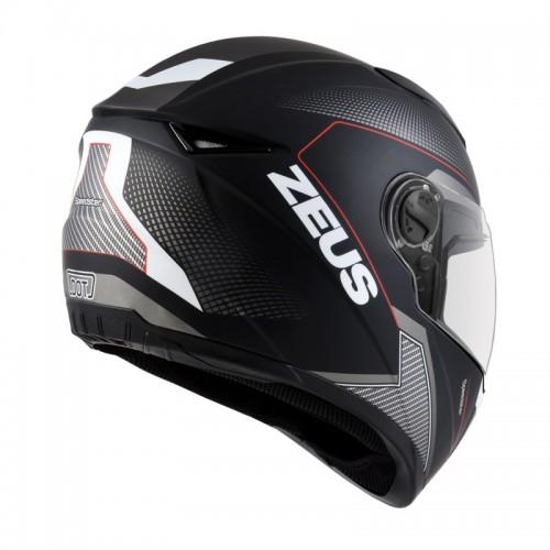 Casco Zeus 811 AL6 Matte Negro/Rojo
