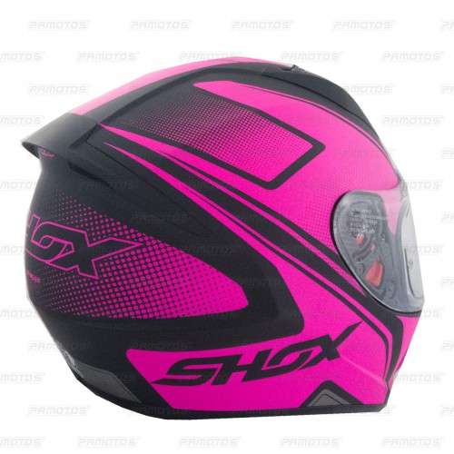 Casco Shox Stinger Secret Fucscia Mate