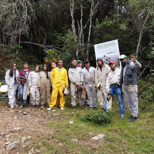 Grupo en la reserva