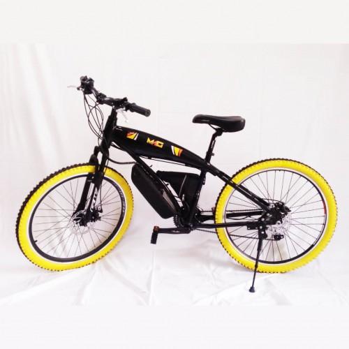 Bicicleta Eléctrica Amarilla con motor 250 W